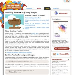 Scrolling Parallax: A jQuery Plugin