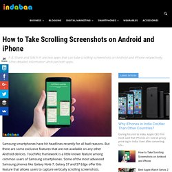 How to Take Scrolling Screenshots on Android and iPhone