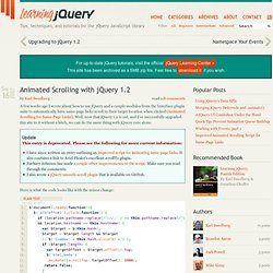 Animated Scrolling with jQuery 1.2