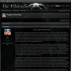 People of the Root - Elder Scrolls Lore