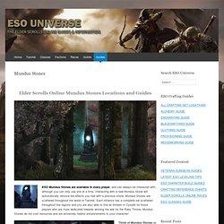Elder Scrolls Online Mundus Stone Location Guides
