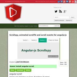 Scrollspy, animated scrollTo and scroll events for angular.js