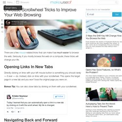 3 Mouse Scrollwheel Tricks to Improve Your Web Browsing
