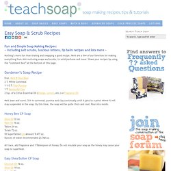 Easy Soap, Scrubs and Lotion Recipes