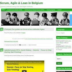 Scrum and Agile in Belgium
