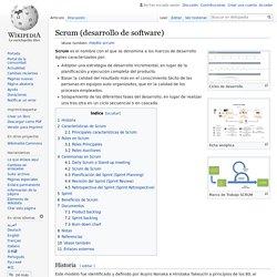 Scrum (desarrollo de software)