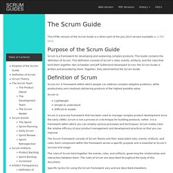 Scrum Guides