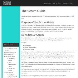 Scrum Guides