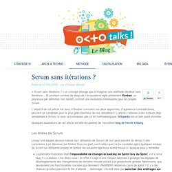 Scrum sans itérations ?