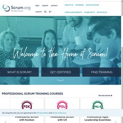 Scrum.org | Training, Assessments, Certifications - Scrum.org