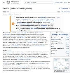 Scrum (software development)