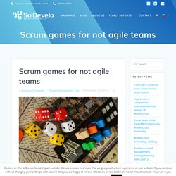 Scrum games for not agile teams - SolDevelo Social Impact