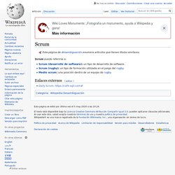 Scrum - METODOLOGIA DE DESARROLLO