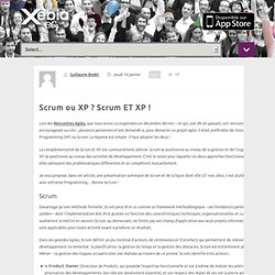 Scrum ou XP ? Scrum ET XP !