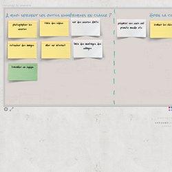 un tableau collaboratif où vous pouvez intervenir (mise en commun)