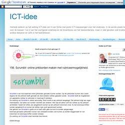 156. Scrumblr: online prikborden maken met rubriceermogelijkheid.