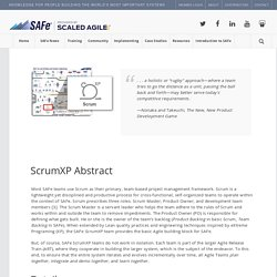 ScrumXP – Scaled Agile Framework