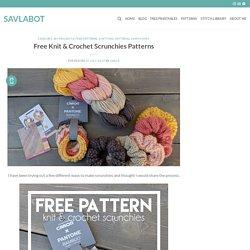 Free Knit & Crochet Scrunchies Patterns – Savlabot