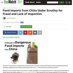 ECOWATCH 09/05/13 Food Imports from China Under Scrutiny for Fraud and Lack of Inspection