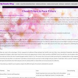 SG Beauty Blog - face filler