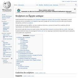 Sculpture en Égypte antique