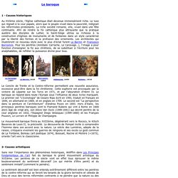 Le baroque en peinture, sculpture et architecture