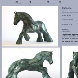 Sculpture en bronze Cannelle - irish cob - cheval auvergne - Saint vaulry