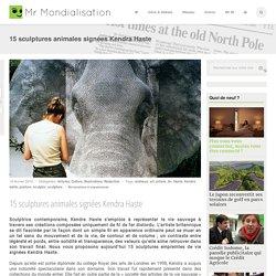 15 sculptures animales signées Kendra Haste