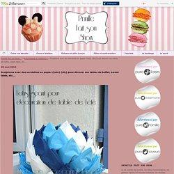 Sculptures avec des serviettes en papier (tuto) {diy} pour décorer vos tables de buffet, sweet table, etc...