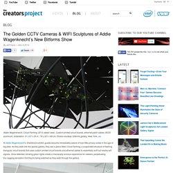 The Golden CCTV Cameras & WIFI Sculptures of Addie Wagenknecht's New Bitforms Show
