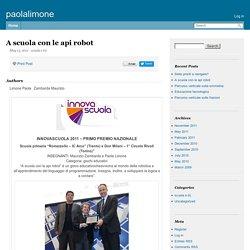 Blog Paolalimone - A scuola con le api robot