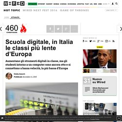 Scuola digitale, in Italia le classi più lente d'Europa