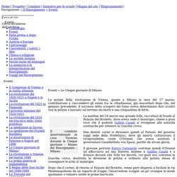 La Scuola per i 150 anni dell'Unità d'Italia - Eventi - Le Cinque giornate di Milano