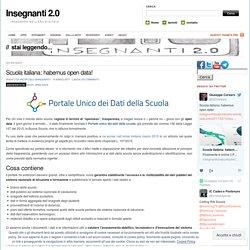 Scuola italiana: habemus open data!