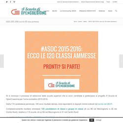 ASOC 2015-2016: ecco le 120 classi ammesse