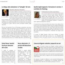 """Scuola7 - n. 12 - La delega sulla valutazione: la """"battaglia"""" del voto - G. Cerini"""