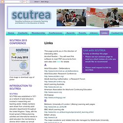 SCUTREA: : Links