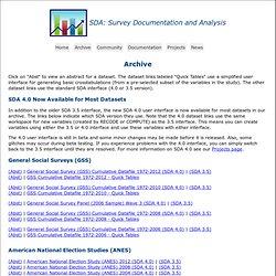 SDA: Archive