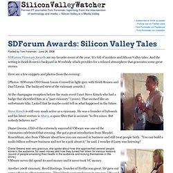 SDForum Awards: Silicon Valley Tales