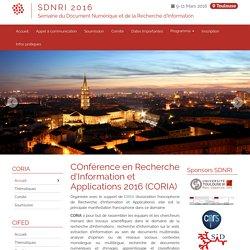SDNRI 2016 - CORIA