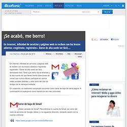 Cómo darse de baja de Facebook, Gmail, MySpace, Yahoo, MSN y Twitter