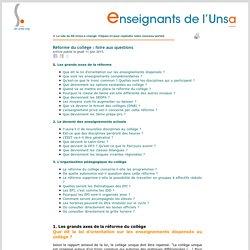 Réforme du collège (UNSA)