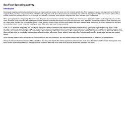 Sea-Floor Spreading Activity