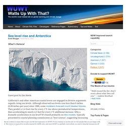 Sea level rise and Antarctica