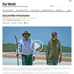 Sea level rise in Kowanyama Qld