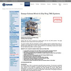 Subsea Winch & Slip Ring TMS Systems