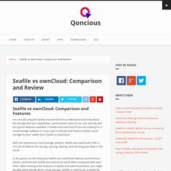 Seafile vs ownCloud: Comparison and Review