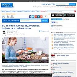 EU seafood survey: 28,000 polled. Italians most adventurous