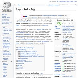 Seagate Technology - Wikipedia