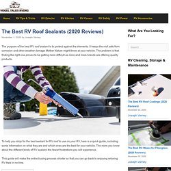 The 20 Best RV Roof Sealants of 2020 - Vogel Talks RVing